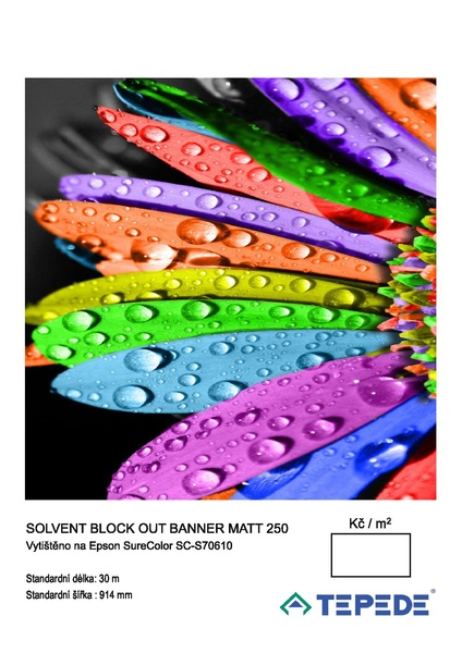 Solvent Blockout Film Matt